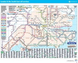 London & South East Network Railcard map thumbnail
